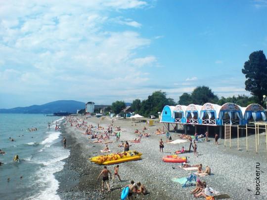 Пляж Огонёк. Адлер