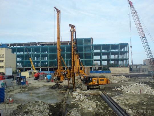 Строительство нового ж/д вокзала Адлер