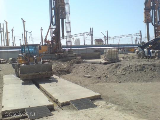 Строительство вокзала в Адлере