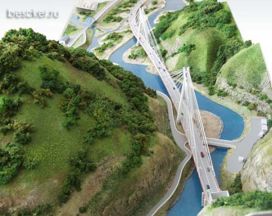 Вантовый мост над Мзымтой